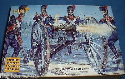 BAVARIAN ARTILLERY. HAT 8038. NAPOLEONIC WARS. 1/72 SCALE PLASTIC