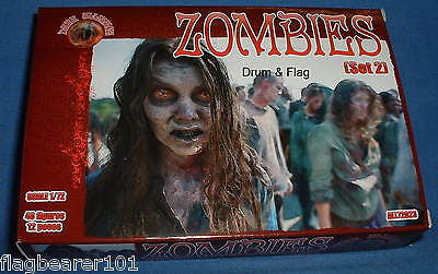 DARK ALLIANCE #72024. ZOMBIES (SET 2). 1/72 SCALE FIGURES