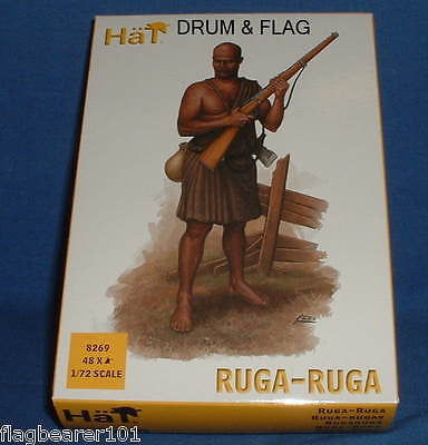 HAT SET 8269 -  RUGA-RUGA  - WW1 - 1:72 SCALE UNPAINTED PLASTIC FIGURES X 48