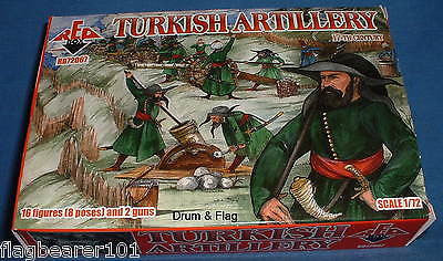 REDBOX 72067 TURKISH ARTILLERY 17th Century. 1/72 SCALE UNPAINTED PLASTIC