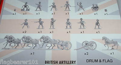 NAPOLEONIC BRITISH ARTILLERY. AIRFIX BATTLE OF WATERLOO. 1/72 SCALE