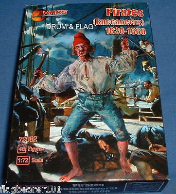 MARS 72082 PIRATES (BUCCANEERS) 1620-60. 1/72 SCALE UNPAINTED PLASTIC FIGURES