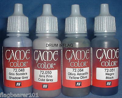VALLEJO GAME COLOR PAINT - WW2 GERMAN SET - 4 x 17ml bottles. DF53