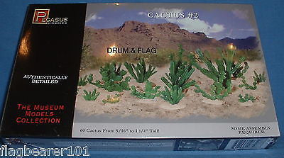 PEGASUS 6508 CACTUS #2. 60 small cactus from 5/16 - 1 1/4 inches tall.
