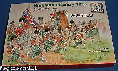 WATERLOO 1815 AP039 NAPOLEONIC HIGHLAND INFANTRY IN SQUARE. 1/72 SCALE 44 PIECES