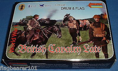 STRELETS SET #114 WW1 BRITISH CAVALRY (LATE WAR). 1/72 SCALE UNPAINTED PLASTIC