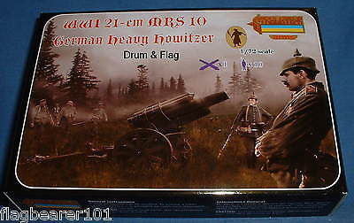 STRELETS A013 WWI 21cm MRS10 GERMAN HEAVY HOWITZER & Crew. 1/72 SCALE