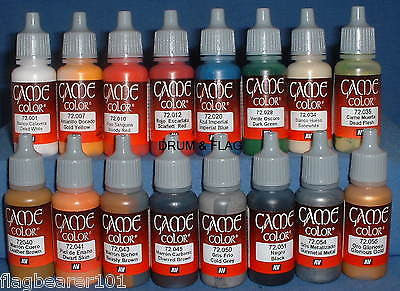 VALLEJO GAME COLOR PAINT - WARGAMES STARTER SET 16 BOTTLES - ACRYLIC 17ml