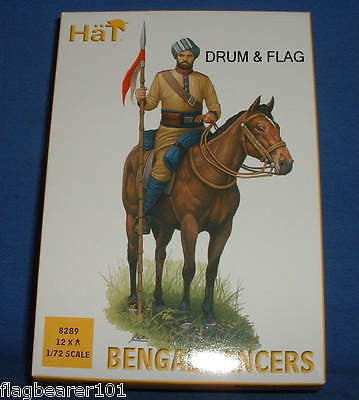 HAT SET 8289 - COLONIAL BENGAL LANCERS - 1:72 SCALE UNPAINTED PLASTIC FIGURES
