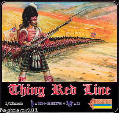 STRELETS 903 - THIN RED LINE. CRIMEAN WAR. 1/72 SCALE PLASTIC
