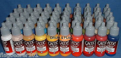 VALLEJO GAME COLOR PAINT - TOP 50 BESTSELLERS - WATER BASED ACRYLIC 17ml PAINTS