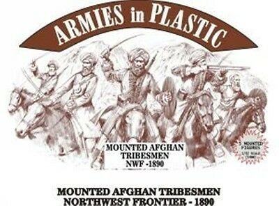 ARMIES IN PLASTIC #5489 - MOUNTED AFGHAN TRIBESMEN - NORTHWEST FRONTIER 1890 - 1/32 SCALE.