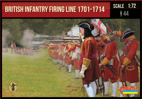 Strelets #232 - British Infantry Firing Line 1701-1714 War of Spanish Succession. 1/72 Scale.