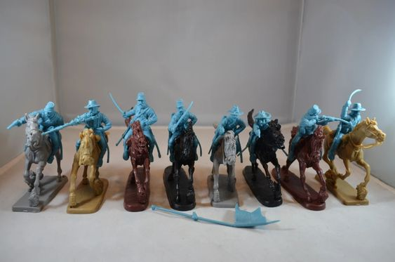 TSSD #10B UNION CAVALRY. LIGHT BLUE PLASTIC. ACW. 60mm Unpainted Plastic
