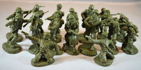 TSSD #3a WWII US INFANTRY. c60mm Unpainted Plastic