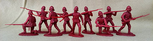 Expeditionary Force ZBR01P - British Infantry in Plain Sun Helmets - Zulu War - 54mm 1/32 Scale