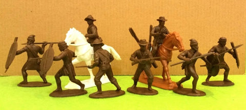 Expeditionary Force ZUL03 - Natal Native Contingent (Horse & Foot) - Zulu War - 54mm 1/32 Scal3