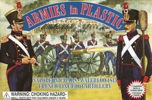 ARMIES IN PLASTIC #5430 - FRENCH LINE FOOT ARTILLERY - NAPOLEONIC WARS - 1/32 SCALE.