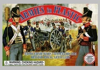 ARMIES IN PLASTIC #5431 - BRITISH FOOT ARTILLERY - NAPOLEONIC WARS - 1/32 SCALE.
