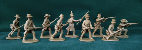 Expeditionary Force AMR01 - American Militia in Civilian Dress - War of 1812 / Napoleonic 54mm 1/32 Scale