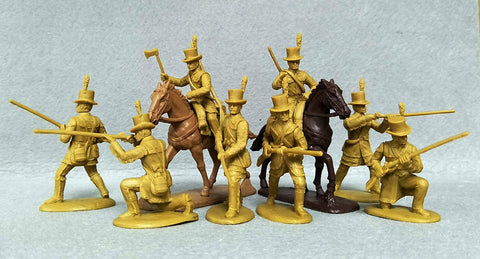 Expeditionary Force 54 AMR 02 – K Kentucky Riflemen (Foot & Mounted) 54mm Plastic War of 1812