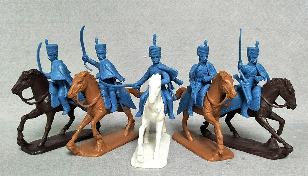 Expeditionary Forces Napoleonic British Hussars - 54 BRT 07 - 54mm Plastic