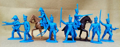 Expeditionary Force FRN03 - French Line Infantry Officers - Napoleonic - 54mm 1/32 Scale