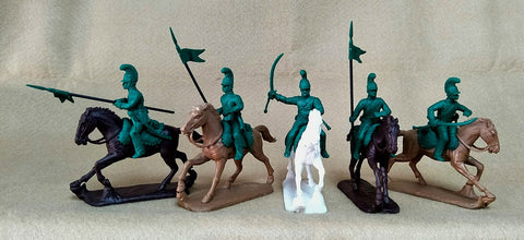 Expeditionary Force Napoleonic French Lancers with Officer - 54 FRN 05 - A. 54mm Plastic.