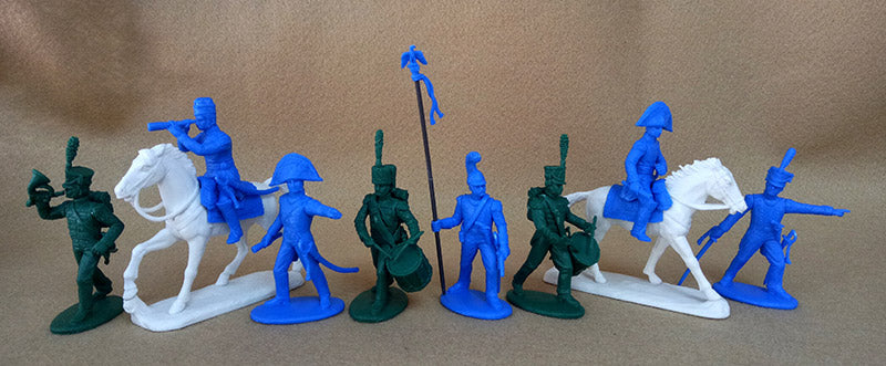Expeditionary Force FRN07 - French Line Command - Napoleonic - 54mm 1/32 Scale