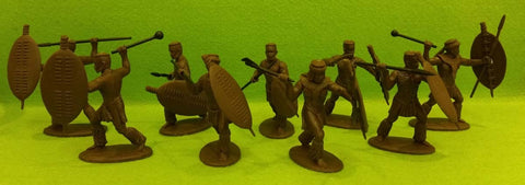 Expeditionary Force ZUL01M - Married Zulus in War Dress - Zulu War - 54mm 1/32 Scale