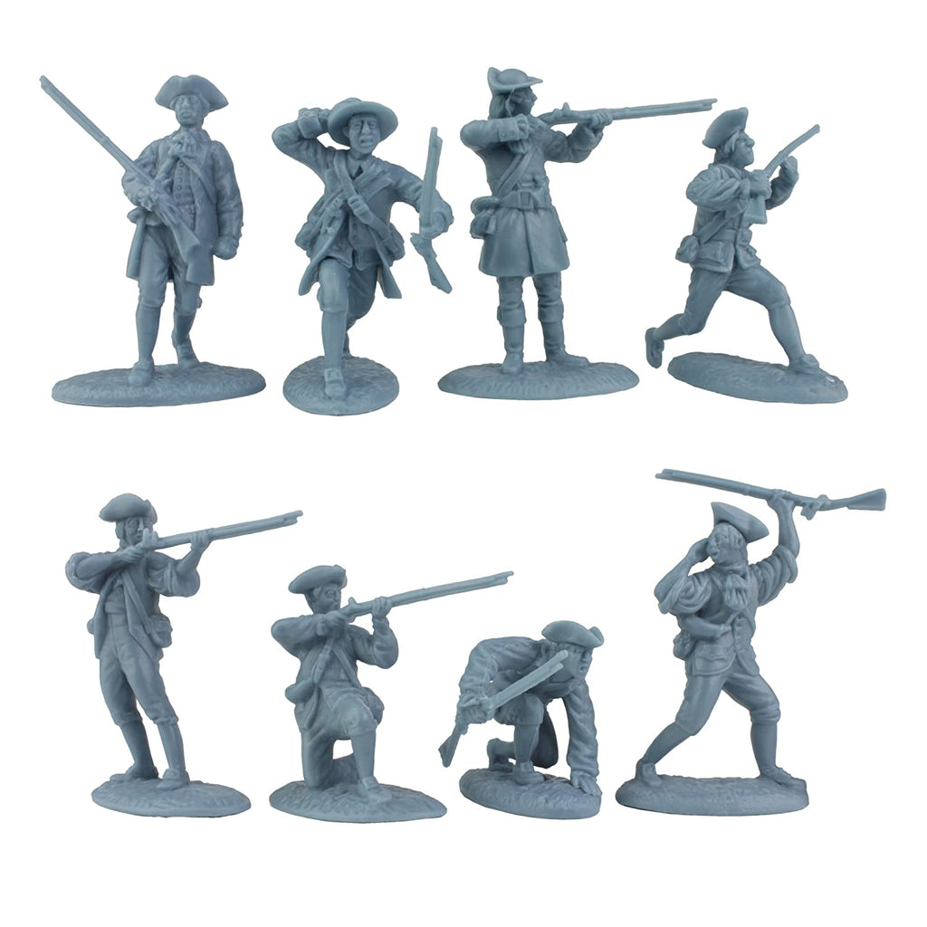 LOD Colonial Minutemen Militia. American Revolution / War of Independence. 60mm plastic.