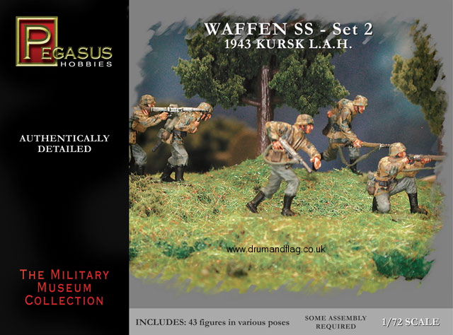 PEGASUS 7202. GERMAN WW2 WAFFEN SS SET 2 KURSK L.A.H. 1943. 1/72 SCALE.