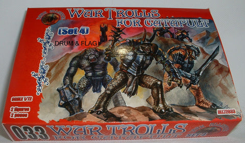 DARK ALLIANCE 72033 - WAR TROLLS for catapults set #4. 1/72 SCALE. Not GW