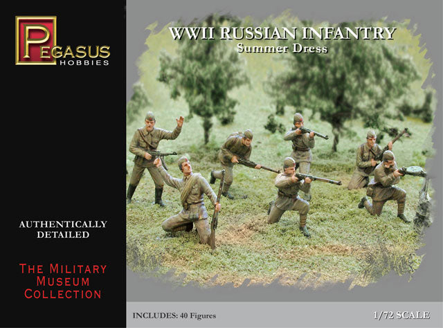 PEGASUS 7268 WW2 RUSSIAN INFANTRY SUMMER DRESS 1/72 SCALE UNPAINTED PLASTIC