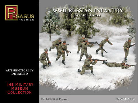 PEGASUS 7269 WWII RUSSIAN INFANTRY WINTER DRESS. 1/72 SCALE WW2 SOVIET RUSSIANS