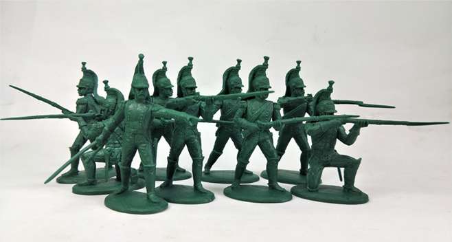 Expeditionary Force Napoleonic French Foot Dragoons - 54 FRN 10. 54mm Plastic