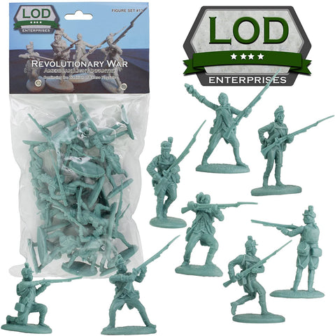 LOD American Light Infantry. American Revolution / War of Independence. 60mm plastic.