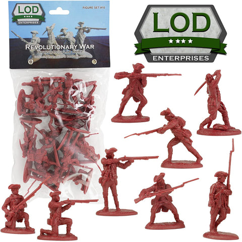 LOD British Regular Army. American Revolution / War of Independence. 60mm plastic.