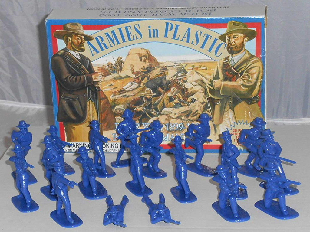 ARMIES IN PLASTIC #5424 - BOER WAR COMMANDOS - 1899-1902 - 1/32 SCALE. Bagged