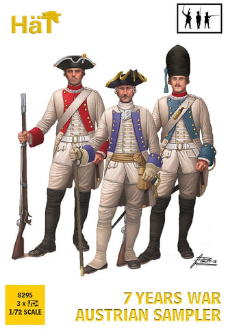 HaT 8295 - Austrian Infantry - Sampler - Seven Years War. 1/72 Scale Plastic Figures