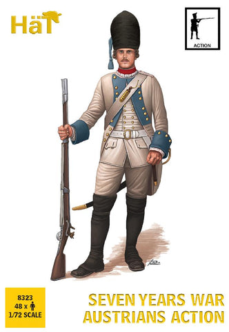 HaT 8323 - Austrian Infantry - Action Poses - Seven Years War. 1/72 Scale Plastic Figures