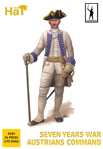 HaT 8324 - Austrian Infantry - Command Poses - Seven Years War. 1/72 Scale Plastic Figures