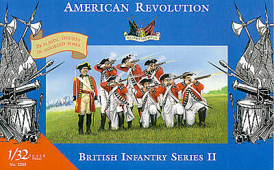 ACCURATE 3208 BRITISH INFANTRY Set 2 - AMERICAN WAR OF INDEPENDENCE 1:32 SCALE (54mm)