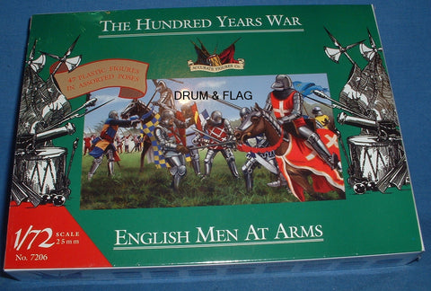 ACCURATE 7206 ENGLISH MEN-AT-ARMS HYW. 47 x 1/72 SCALE UNPAINTED PLASTIC FIGURES