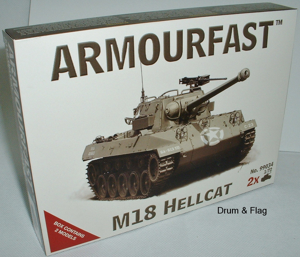 ARMOURFAST 99034 M18 HELLCAT TANK DESTROYER - 1/72 SCALE PLASTIC KIT