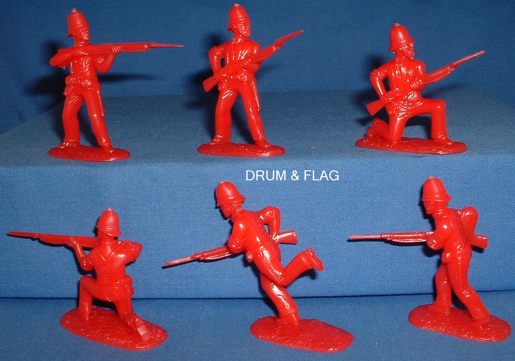 ARMIES IN PLASTIC #5573 - ZULU WAR 1879 - BRITISH INFANTRY - 24TH FOOT 1/32 SCALE. 6 FIGURE BAGGED PACK