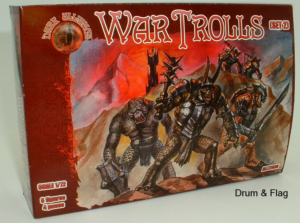 DARK ALLIANCE 72031 - WAR TROLLS set #2. 1/72 SCALE. Not GW
