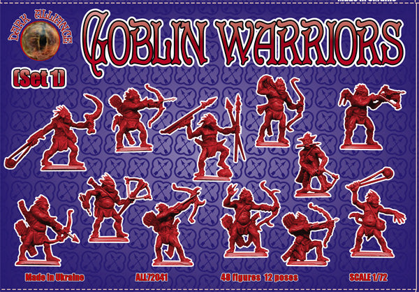 DARK ALLIANCE 72041 GOBLIN WARRIORS SET #1 - GOBLINS - 1/72 SCALE.