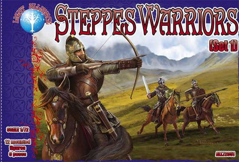 DARK ALLIANCE 72051 STEPPES WARRIORS SET #1 - 1/72 SCALE
