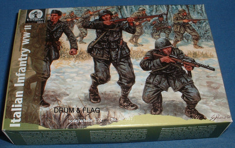 WATERLOO 1815 AP007 WW2 ITALIAN INFANTRY. 1/72 SCALE. version 2 - not airfix